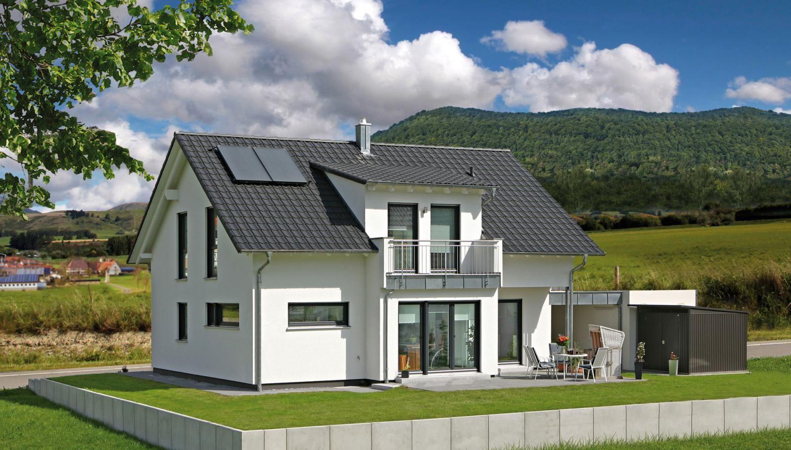 新农村二层现代别墅设计图 途墅之家新式, 小阳台 独立车库, 屋顶可