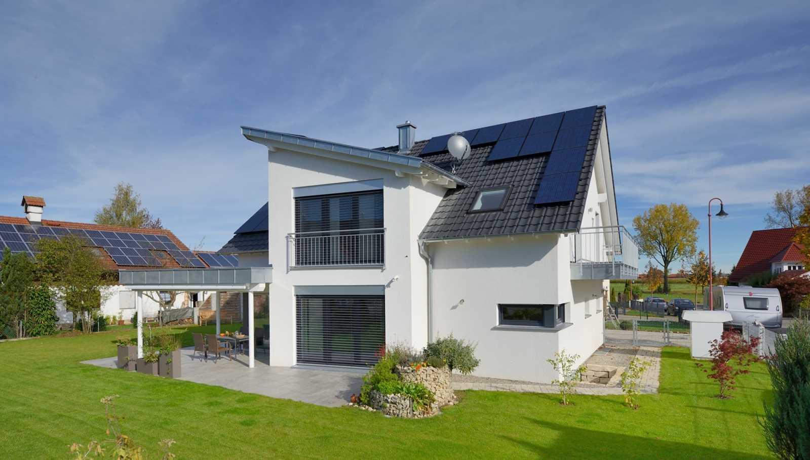 新能源系列 途墅之家别墅图纸设计, 新兴能源房 乡村风 高效w007