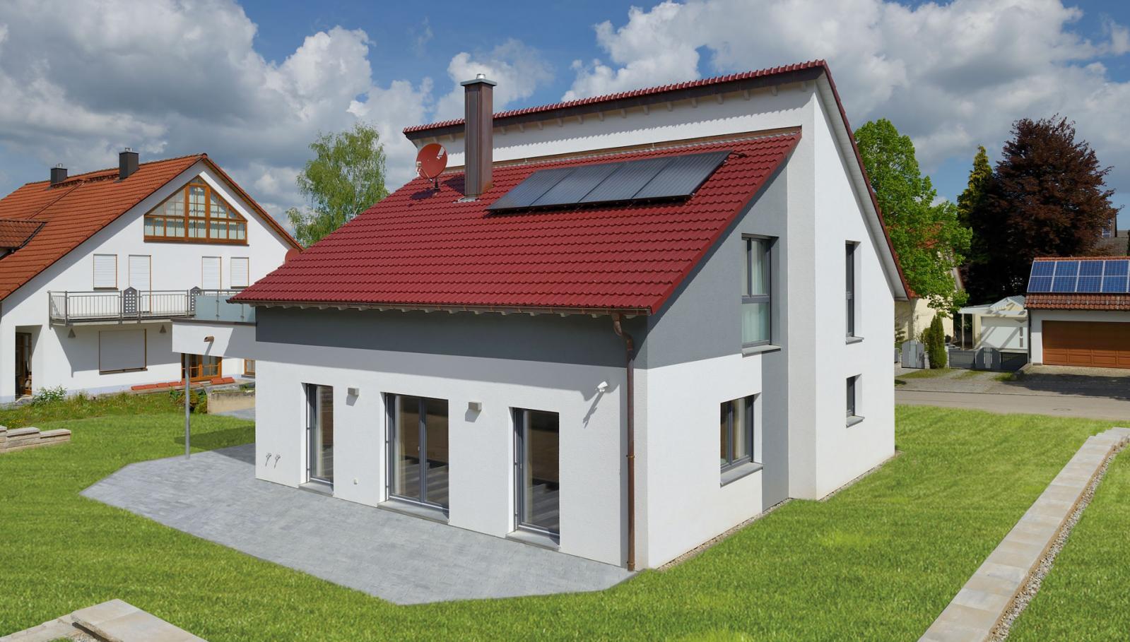 乡村 田园房 途墅之家图纸设计, 叠层屋顶 可铺设太阳能 客厅空间大 g图片