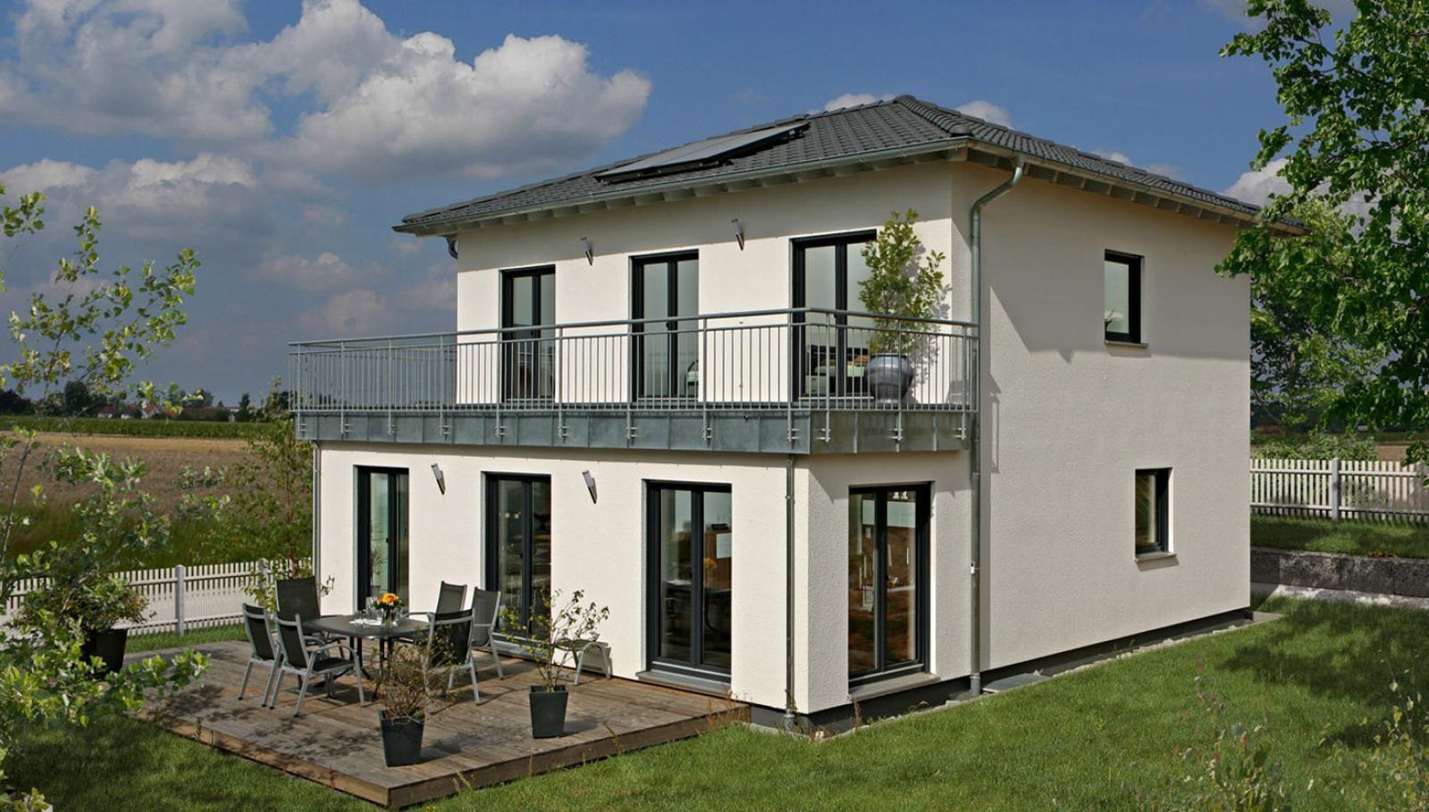 新农村 微顶平房 自建15万农村别墅图纸设计, 二楼半露阳台 室内面积
